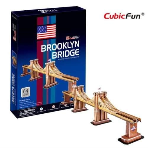 3D Puzzle Fun Kids Toys Brooklyn Bridge - 64pc - Title
