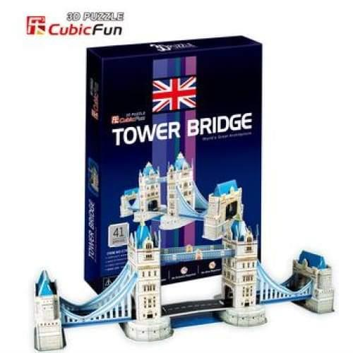 3D Puzzle Fun Kids Toys Tower Bridge - 41pc - Title