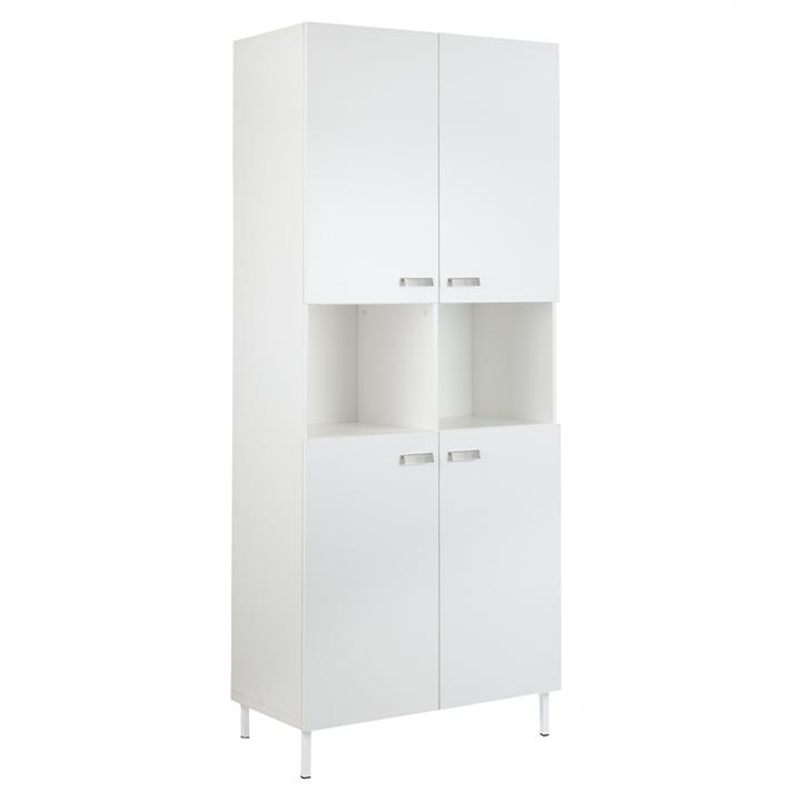 Ashley Collection 10-Cube Display Bookcase With 4-Doors - White