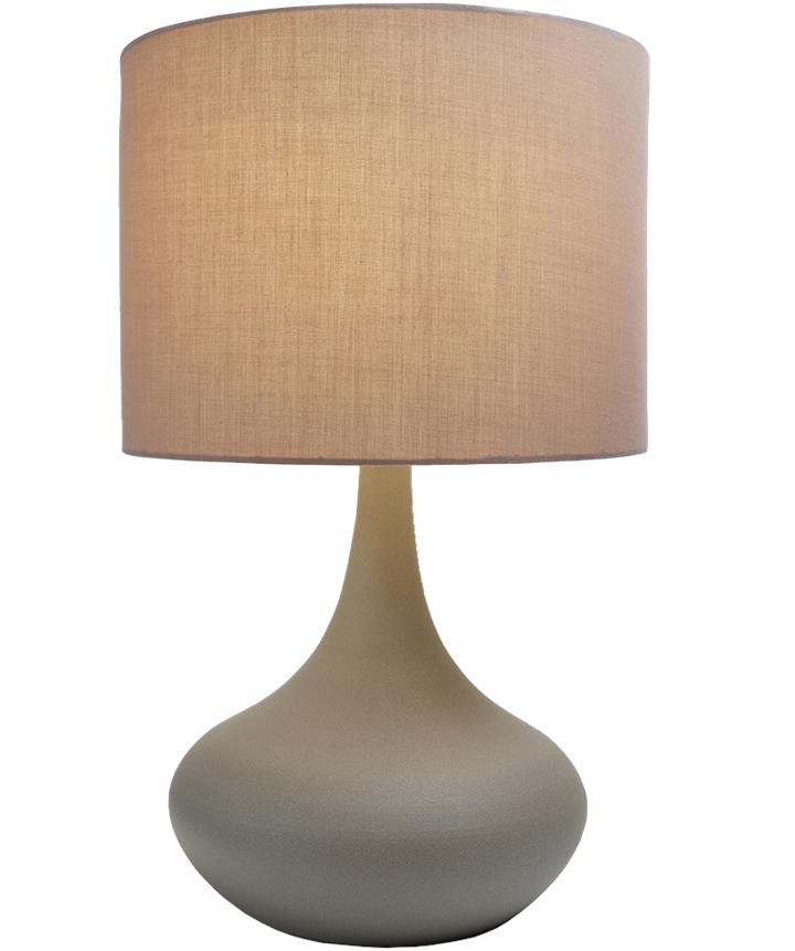 Atley Metal Touch Table Lamp Large - Grey