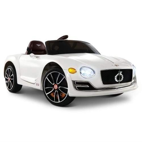 Bentley Kids Ride On Car Licensed Electric Toys 12V Battery Remote Cars White