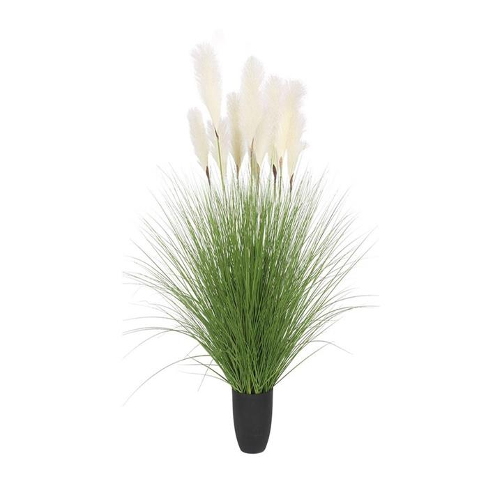 110cm Artificial Indoor Potted Reed Bulrush Grass Tree Fake Plant Simulation Decorative