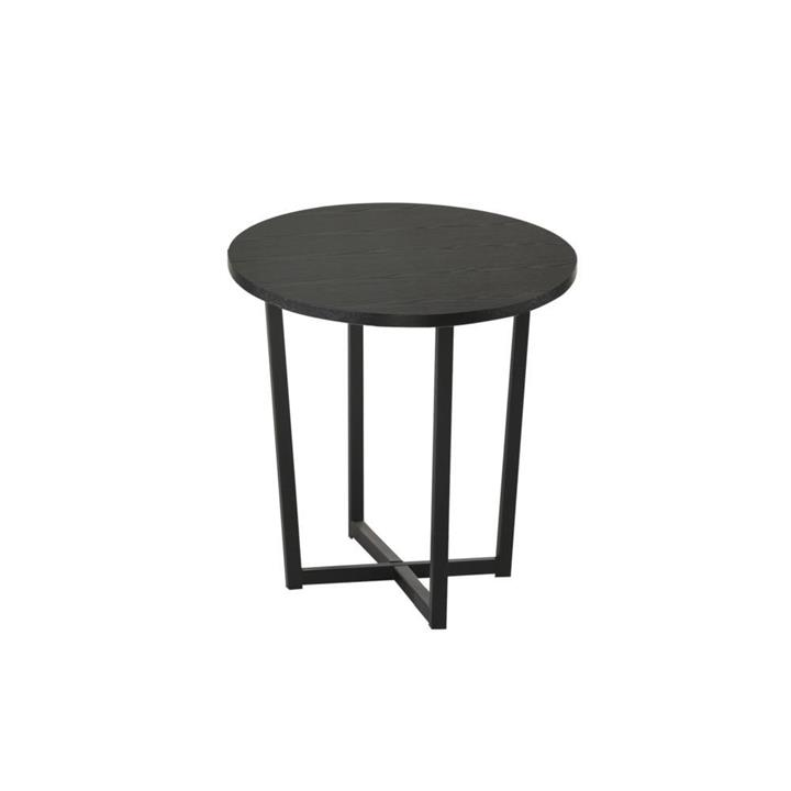 Archie Round End Side Table - Black