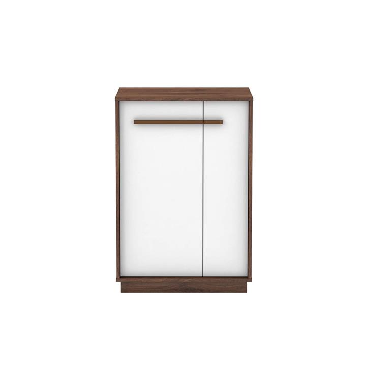Cecilia 5-Tier Shoe Rack Cabinet With Doors - Columbia/White