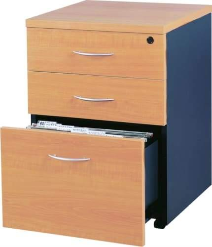 Mantone Mobile Pedestal Drawer - Select Beech/Ironstone