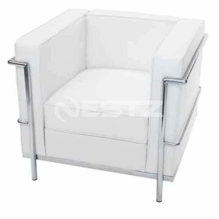 Le Corbusier LC2 Replica Premium Leather Armchair Sofa - White