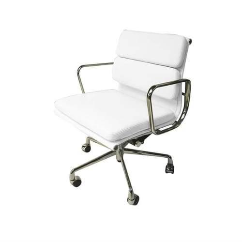 Eames Replica Soft Pad Management Office Chair - Low Back - White