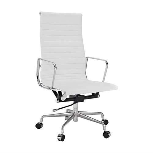 Eames Replica Management Office Chair - High Back - White