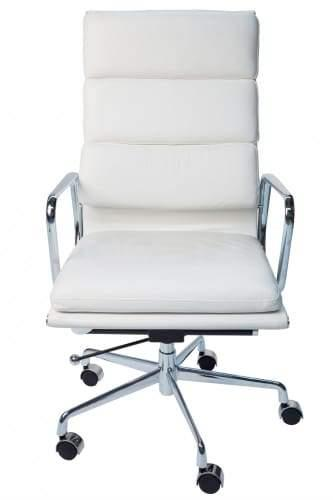Eames Replica Soft Pad Management Office Chair - High Back - White