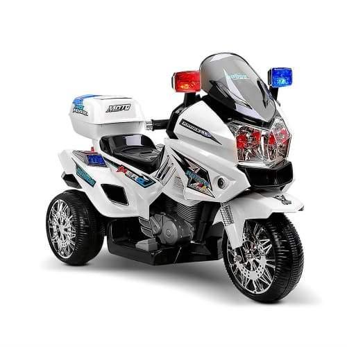 Kids Ride on Police Motorbike - White