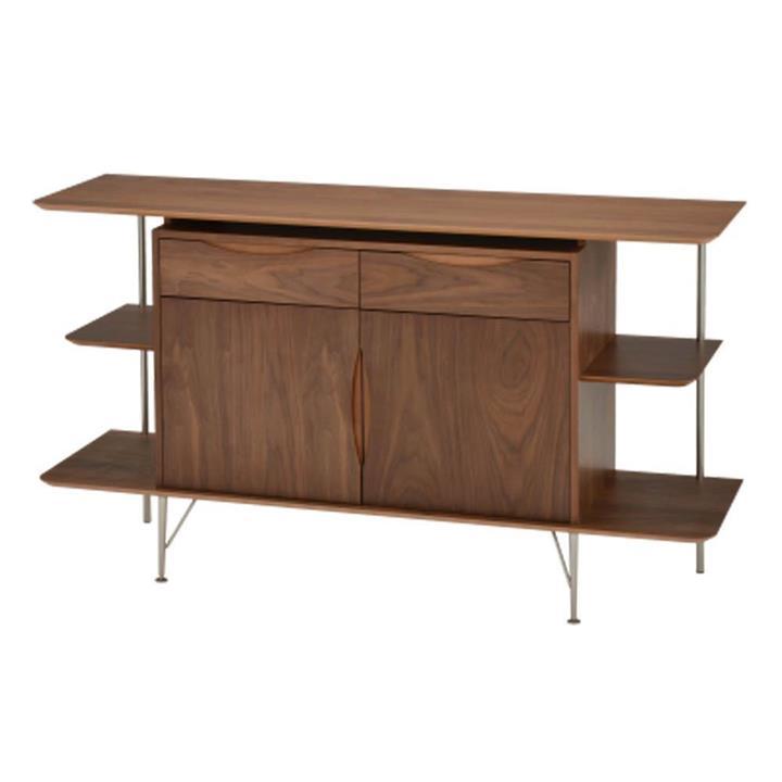 6IXTY2 Scandinavian Sideboard Buffet Unit Storage Cabinet - Walnut
