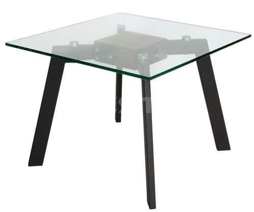 Vue Collection - Side Table - Walnut - Matte Black