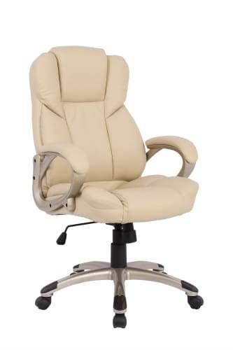 Brinton PU Leather Executive Office Chair - Beige