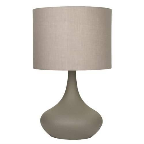 Atley Touch Table Lamp - Concrete Colour Base - Small - Grey Shade