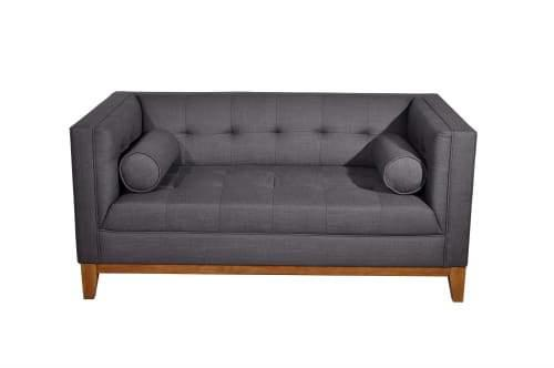 Calvin Lounge Suites 2-Seater Sofa - Dark Grey