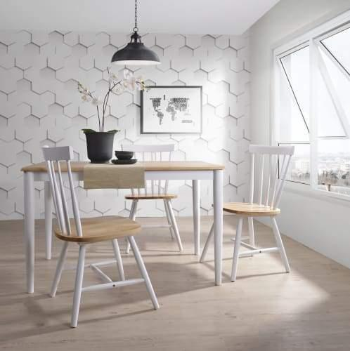 Claus Dining Table - 120cm - Natural / White