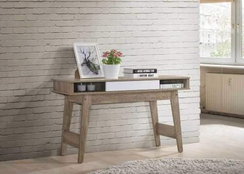 Endo Hall Console Table - Natural / White