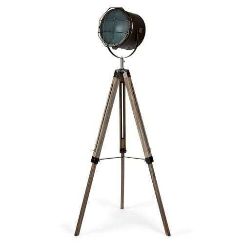 Columbus Vintage Floor Lamp - Old Ki / Black