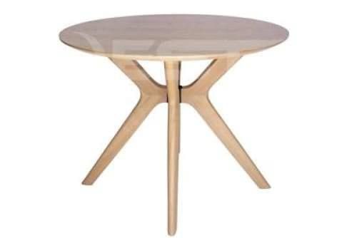 Lyn Round Wood Dining Table - 100cm - Natural