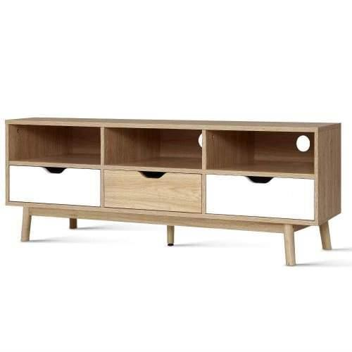 TV Cabinet Entertainment Unit Stand Wooden Storage 140cm Scandinavian