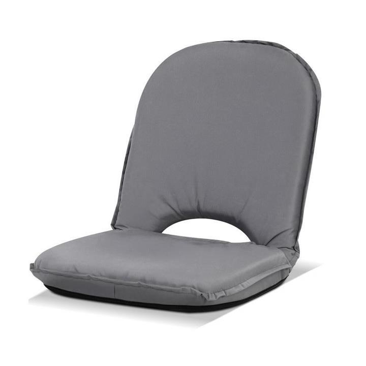 Floor Lounge Sofa Camping Portable Recliner Beach Chair Folding Outdoor Grey