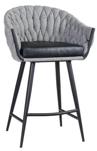 Set of 2 - Peak Bar Stool 65cm - Volcanic Ash