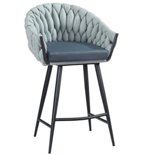 Set of 2 - Peak Bar Stool 65cm - Ocean Teal