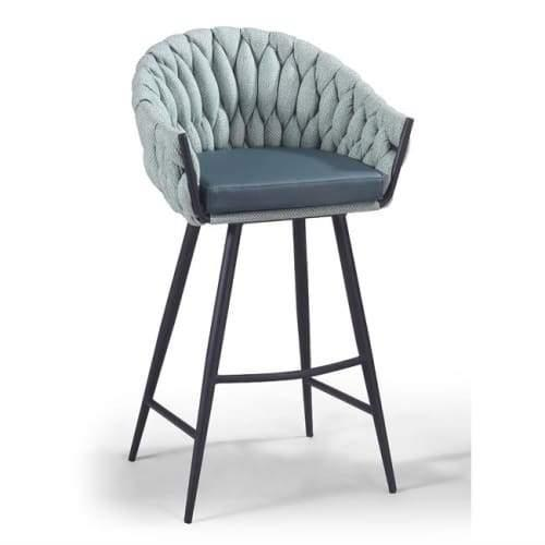 Set of 2 - Peak Bar Stool 75cm - Ocean Teal