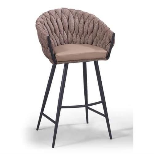 Set of 2 - Peak Bar Stool 75cm - Chocolate Milk