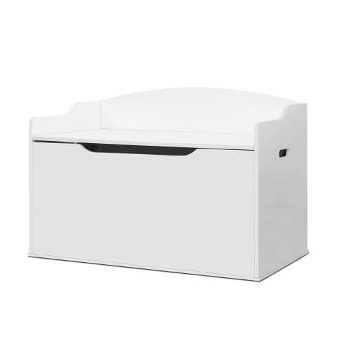 Kids Toy Box Storage Cabinet Chest Blanket Children Clothes Organiser White