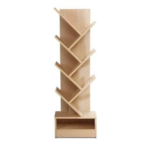 Artiss Display Shelf 7-Shelf Tree Bookshelf Book Storage Rack Bookcase Natural