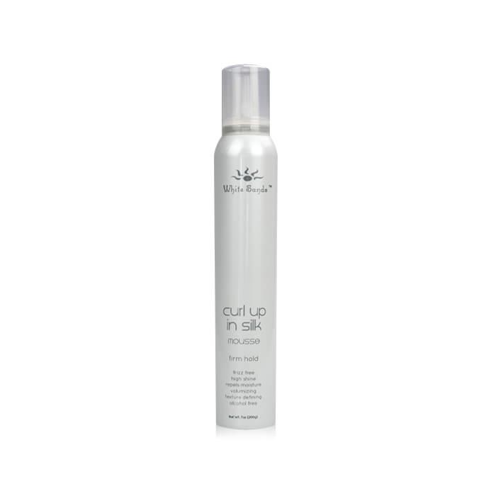 White Sands Curl Up In Silk Firm Hold Mousse 200g