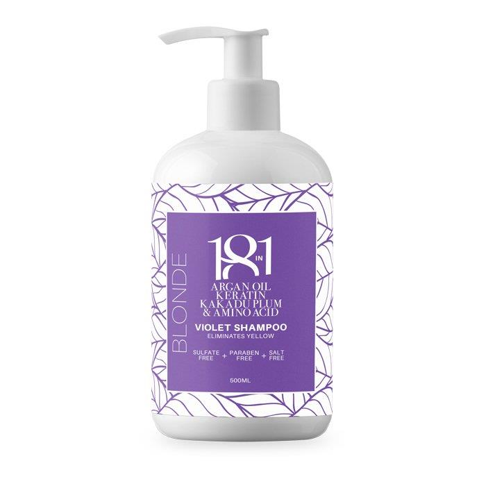 18 in 1 Blonde Violet Shampoo 500ml