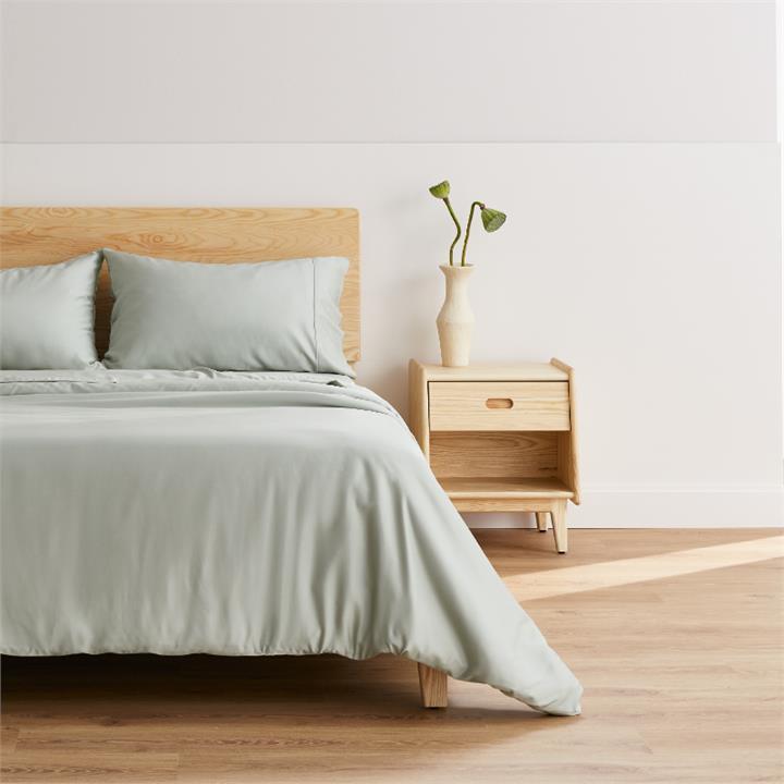 Ecosa Bamboo Bedding-Sheet set-Single-Glacial Green