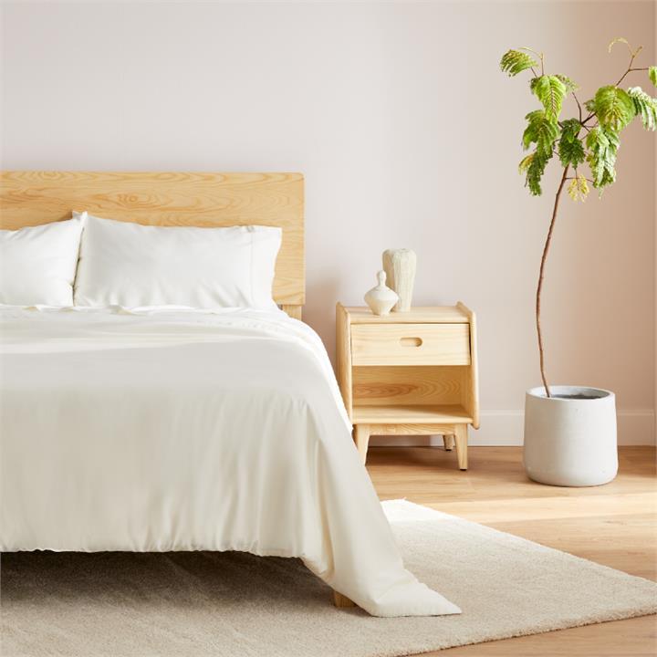Ecosa Bamboo Bedding-Queen-Sheet set-Ivory