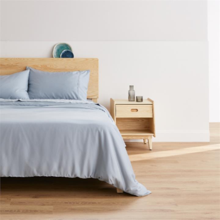 Ecosa Bamboo Bedding-Queen-Sky Blue-Quilt cover