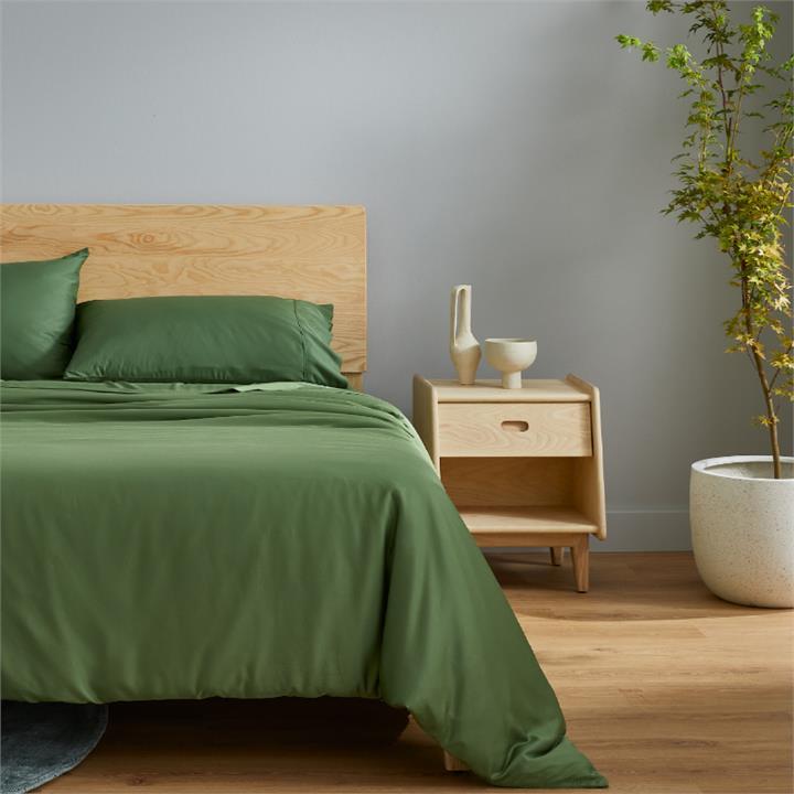 Ecosa Bamboo Bedding-Queen-Sheet set-Olive Green