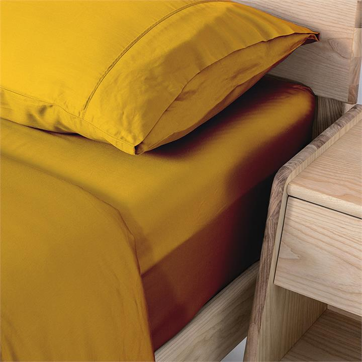Ecosa Bamboo Bedding-Double-Quilt cover-Mustard