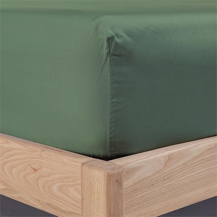 Ecosa Bamboo Bedding-King Single-Fitted sheet-Olive Green