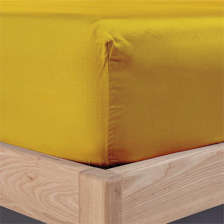 Ecosa Bamboo Bedding-Single-Fitted sheet-Mustard