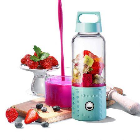 Image of Personal Smoothie Blender, Kacsoo Detachable Portable Blender Fruit Mixer, Single Serve Juicer Cup, Lightweight USB Rechargeable Travel Blender for Shakes and Smoothies, FDA Approved,BPA Free(Blue)