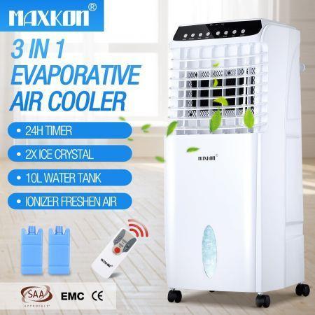 Image of 10L Evaporative Air Cooler Fan Ionizer/Humidifier Remote Control Conditioner