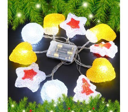 Image of 10 LED Home Christmas Party Light D�cor Red & Orange