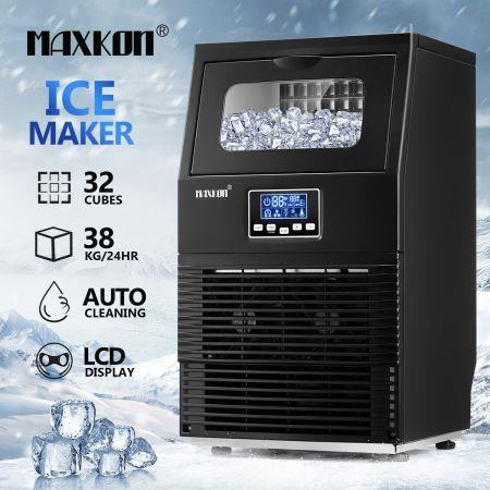 Image of Maxkon 38kg Commercial Ice Cube Maker Machine Home Benchtop Countertop Fast Freezer