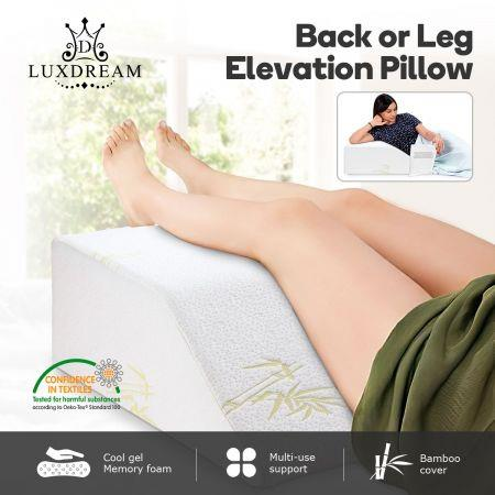 Image of Luxdream Wedge Pillow Leg Elevation Pillow with Cool Gel Memory