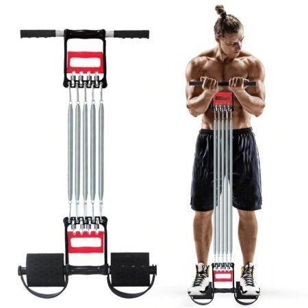 Home Fitness Chest Developer Expander, Hand Gripper Arm Pull Bar