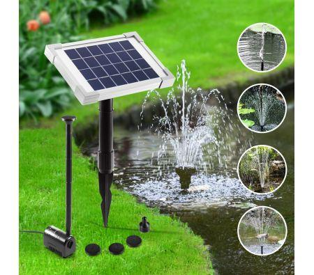 Image of Solar Power Fountain Outdoor Pond Pool Water Pump