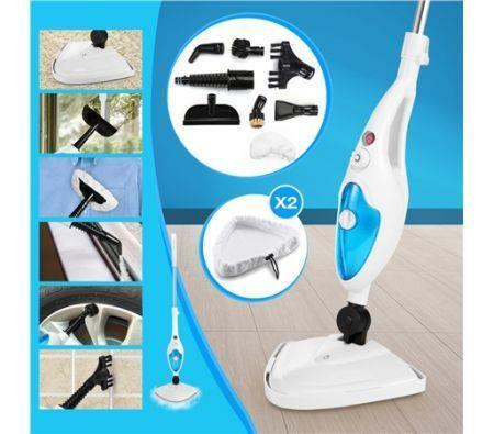 Image of 10-in-1 Steam Cleaning Mop-1300W-Blue&White