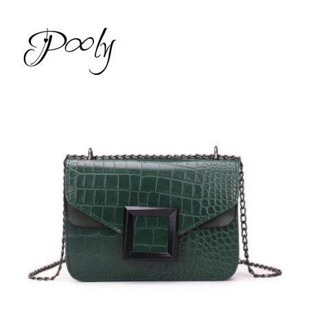 Poly Vintage  Chain Crossbody Mini Shoulder Bag Black