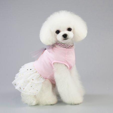 Pet Dress Dog Lace Skirt Lace  Wedding Party L